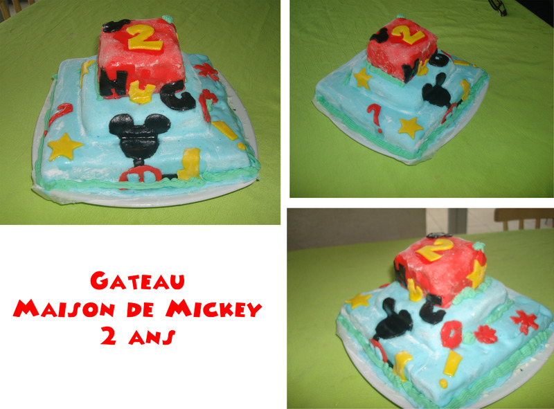 Le Gâteau Maison De Mickey Pâte à Sucre Centerblog