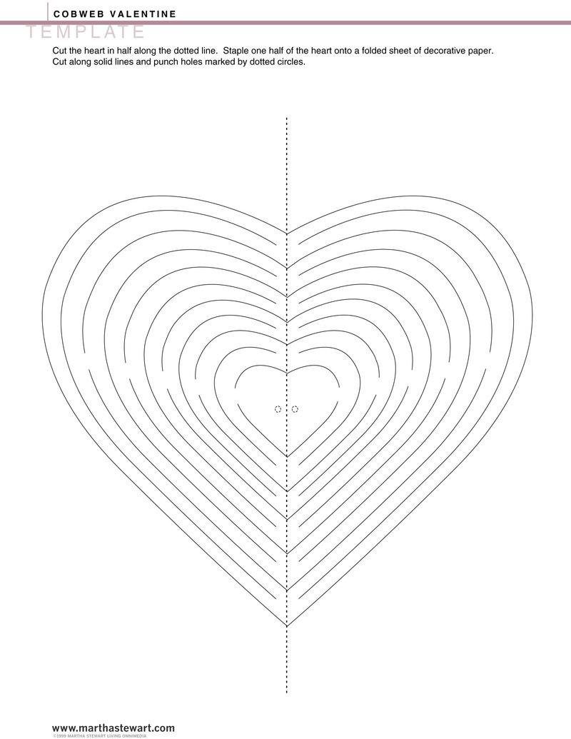 Une guirlande de coeurs d couper - Modele de coeur a decouper ...