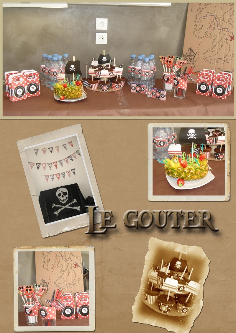 go ter pirate d coration anniversaire th me pirate. Black Bedroom Furniture Sets. Home Design Ideas