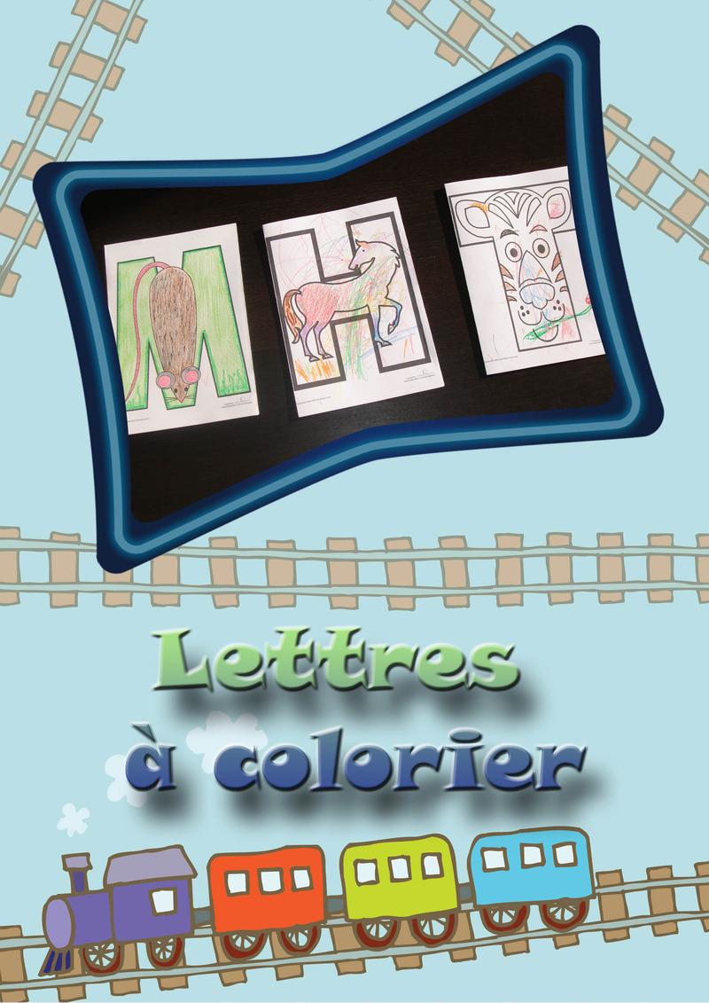Lettres colorier - Lettres a colorier ...