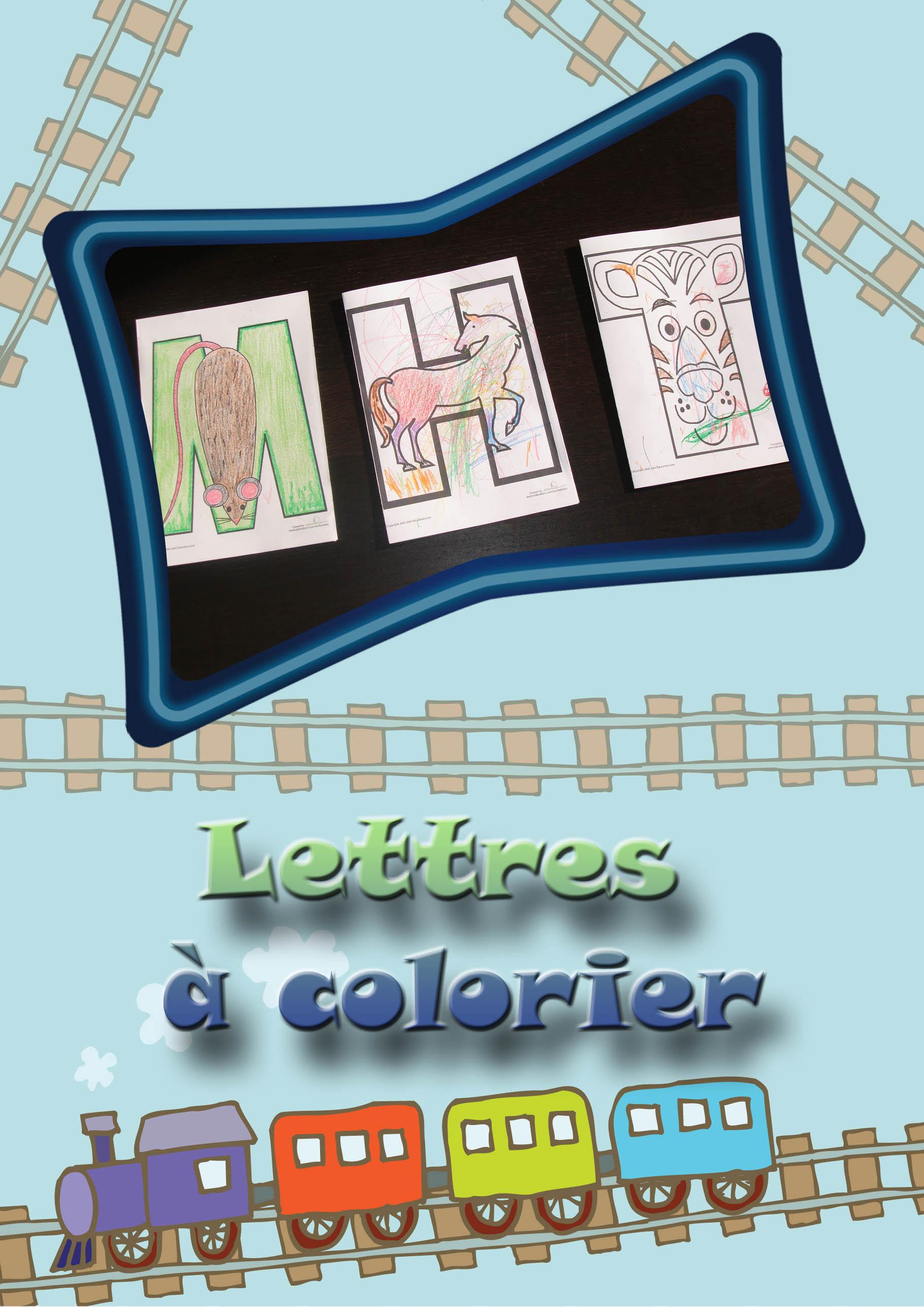 Lettres colorier - Lettre a colorier ...